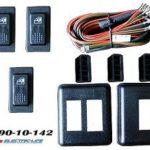 4990-10-142  UNIVERSAL 2 DOOR ROCKER ILLUMINATED 3 SWITCH KIT