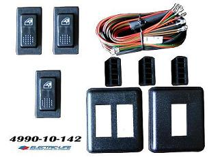 4990-10-142  UNIVERSAL 2 DOOR ROCKER ILLUMINATED 3 SWITCH KIT