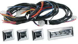 4990-50-356  GM OE CHROME 4 DOOR SWITCH KIT