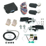 94120 POWER BEAR CLAW SHAVED HANDLE KIT WITH 99925 12 CHANNEL KEYLESS ENTRY WITH EMERGENCY ENTRY AND POWER TRUNK KIT