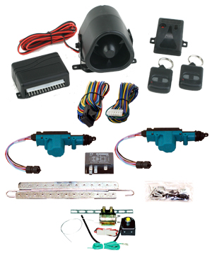 95165 2 DOOR MES LOCK KIT LK01-10-122 WITH 95430 STANDARD ALARM & TRUNK KIT TK01-00-001