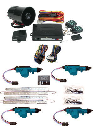 95211 4 DOOR MES LOCK KIT LK01-50-123 WITH 95700 COMBINATION ALARM & REMOTE START