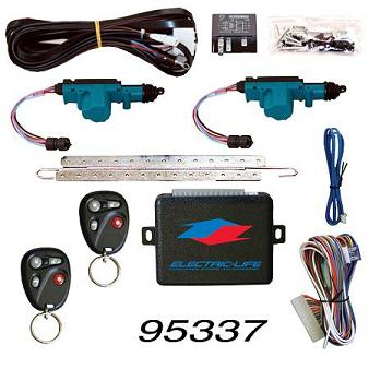 95337 2 DOOR LOCK KIT W/ KEYLESS FOR 2007-2011 JEEP WRANGLER