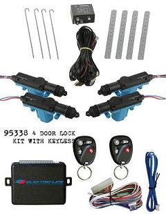 95338 4 DOOR POWER DOOR LOCK KIT W/ KEYLESS ENTRY