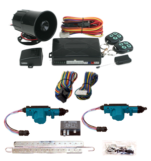 95343 2 Door Jeep Lock kit with Keyless and Remote Start Alarm
