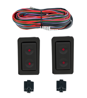 99020-B   BLACK ANNODIZED BILLET BMW STYLE SWITCHES