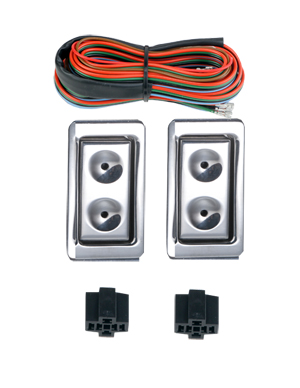 99020 NEW BILLET STYLE CONSOLE MOUNT 2 SWITCH ILLUMINATED SWITCH KIT.