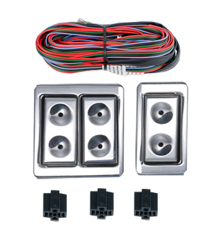 99021 NEW BILLET STYLE DOOR MOUNT 3 SWITCH ILLUMINATED KIT.
