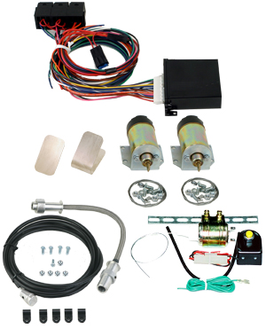 99085   2 DOOR SHAVED HANDLE KIT WITH 60LB SOLENOIDS AND 6 CHANNEL KEYLESS ENTRY