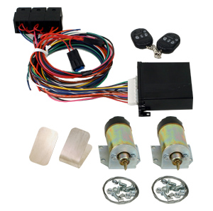 99120    2 DOOR SHAVED HANDLE KIT WITH 60 LB. SOLENOIDS AND 6 CHANNEL KEYLESS ENTRY