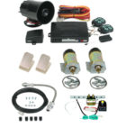 99130 2 DOOR SHAVED HANDLE KIT WITH 60LB SOLENOIDS, COMBINATION ALARM/REMOTE START, EMERGENCY ENTRY KIT, DOOR THRUSTERS AND TRUNK KIT
