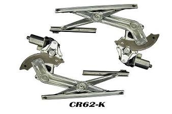 CR62-K    4 DOOR REAR KIT CONTAINS 2 COMPLETE REGULATORS WITH MOTORS ATTACHED